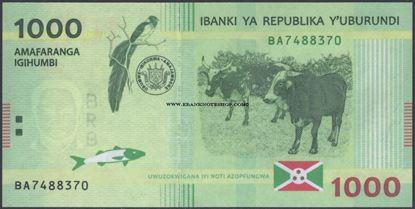Picture of Burundi,P51,B237a,1000 Francs,2015