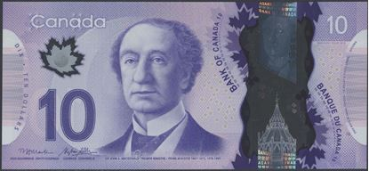 Picture of Canada,B372b,P107b,10 Dollars,2013