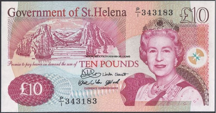Picture of St Helena,B308a,P12,10 Pounds,2004