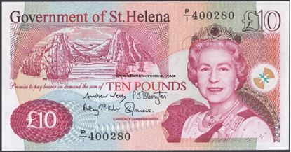 Picture of St Helena,B308b,P12,10 Pounds,2012