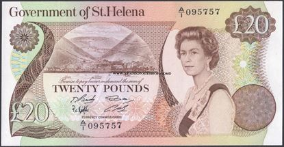 Picture of St Helena,B306a,P10,20 Pounds,1986