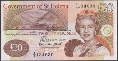 Picture of St Helena,B309a,P13a,20 Pounds,2004