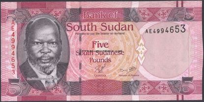 Picture of South Sudan,P06a,B102a,5 Pounds,2011