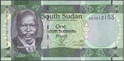 Picture of South Sudan,P05a,B101a1 Pound,2011