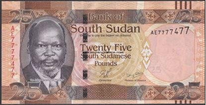 Picture of South Sudan,P08,B104,25 Pounds,2011