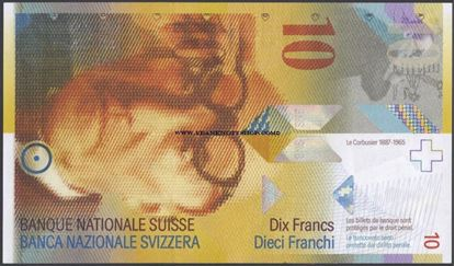 Picture of Switzerland,P67,B349g,10 Francs,2013