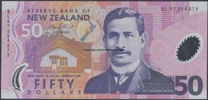 Picture of New Zealand,P188,B134d,50 Dollars,2007