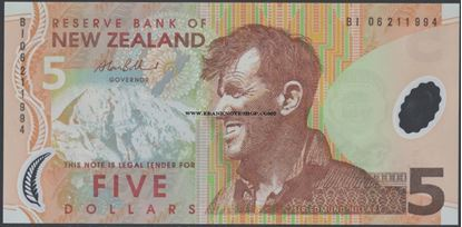 Picture of New Zealand,P185b,B131e,5 Dollars,2006
