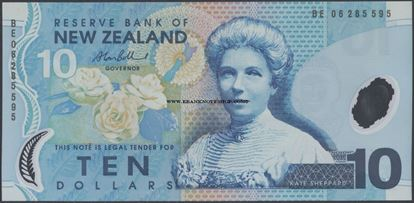 Picture of New Zealand,P186,B132e,10 Dollars,2006