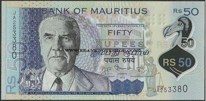 Picture of Mauritius,P65,B431,50 Rupees,2013