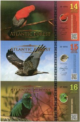 Picture of Atlantic Forest,14/15/16 Aves SET,201