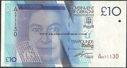 Picture of Gibraltar,P36,B131,10 Pounds,2011