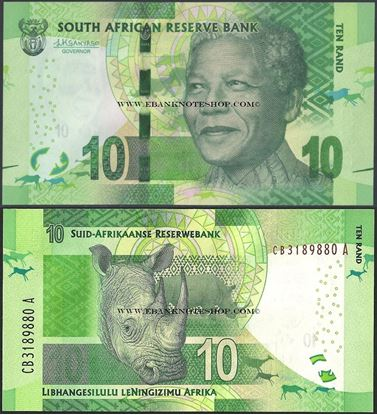 Picture of South Africa,P138,B767b,10 Rands