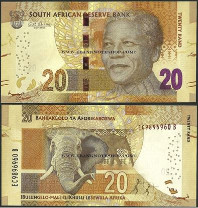 Picture of South Africa,P139,B768a,20 Rands
