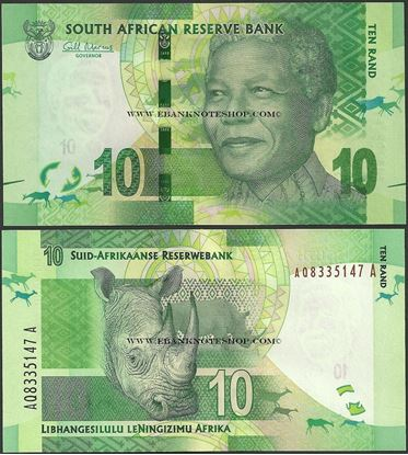 Picture of South Africa,P133,B762a,10 Rands