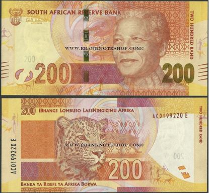 Picture of South Africa,P137,B766a,200 Rands
