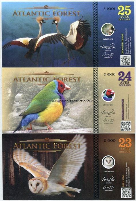 Picture of Atlantic Forest,23/24/25 Aves SET,2016