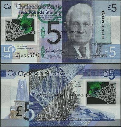 Picture of Scotland,P229O,5 Pounds,2016,Clydesdale,Polymer