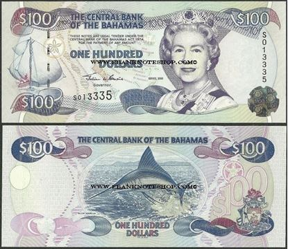Picture of Bahamas,P67,B333,100 Dollars,2000