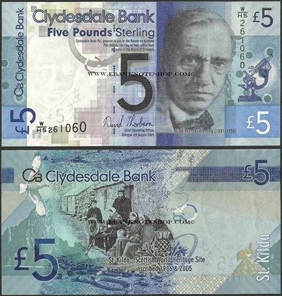 Picture of Scotland,P229I,5 Pounds,2009,Clydesdale