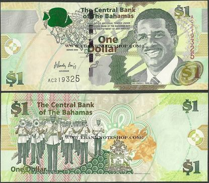 Picture of Bahamas,P71,B337a,1 Dollars,2008