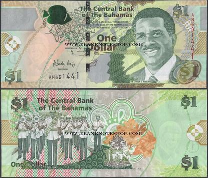 Picture of Bahamas,P71A,B347a,1 Dollars,2015