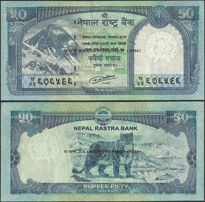 Picture of Nepal,P79,B288,50 Rupees,2015