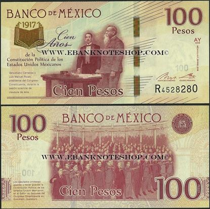 Picture of Mexico,P130,B713,100 Pesos,2016,Comm