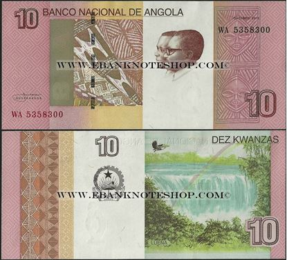 Picture of Angola,P151B,B551,10 Kwanza,2012(In 2017)