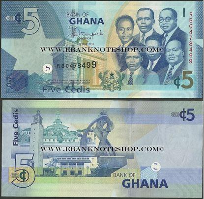 Picture of Ghana,P38f, B146f,5 Cedi,2015