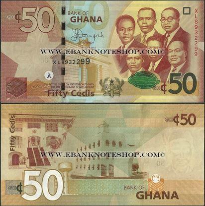 Picture of Ghana,P42c, B151c,50 Cedi,2015