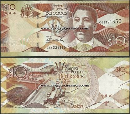Picture of Barbados,P75,B234a,10 Dollars,2013