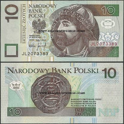 Picture of Poland,P173b,B854b,10 Zloty,1994