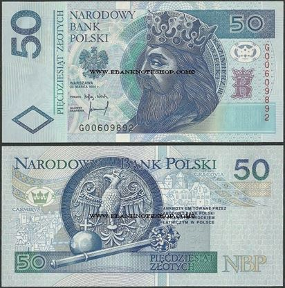 Picture of Poland,P176b,B856b,50 Zloty,1994