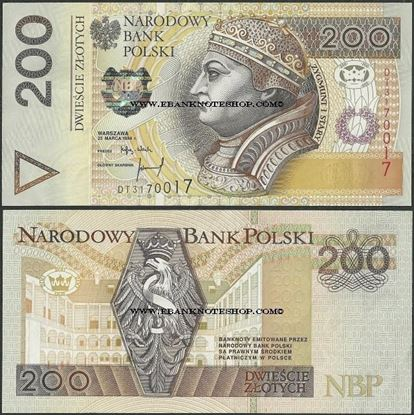 Picture of Poland,P177b,B858b,200 Zloty,1994