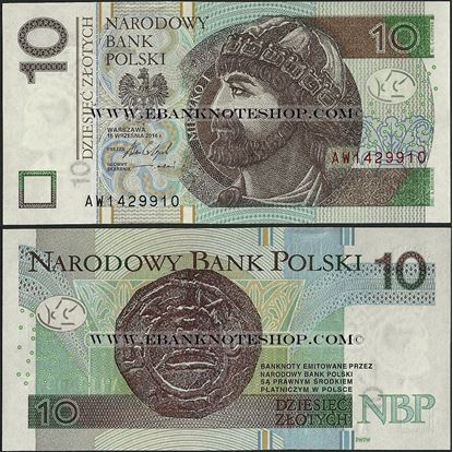 Picture of Poland,P183b,B859b,10 Zloty,2016(In 2017)