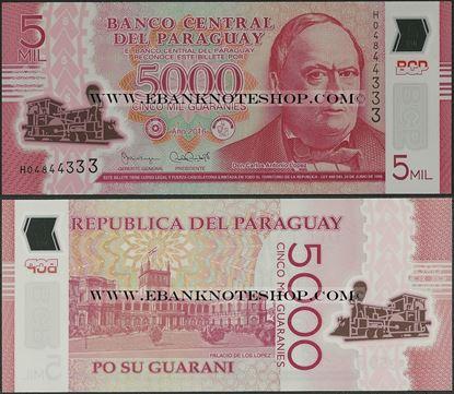 Picture of Paraguay,P234b?,B857b,5000 Guarani,2016