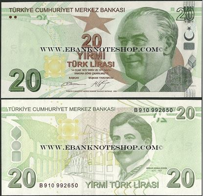 Picture of Turkey,P224?,B302b,20 Lira