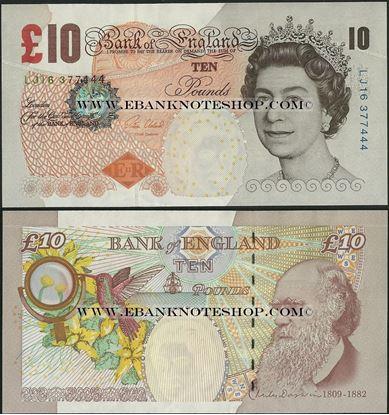Picture of England,P389e,B199e,10 Pounds,Sg V Cleland