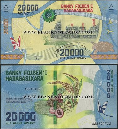 Picture of Madagascar,B339,20 000 Ariary,2017
