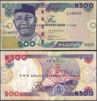 Picture of Nigeria,P30,B228r,500 Naira,2016