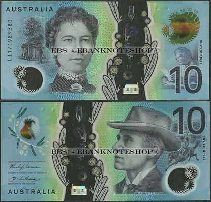 Picture of Australia,P63,B231,10 Dollars,2017