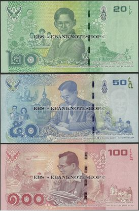 Picture of Thailand, B188-B190,3 Note Set,2017