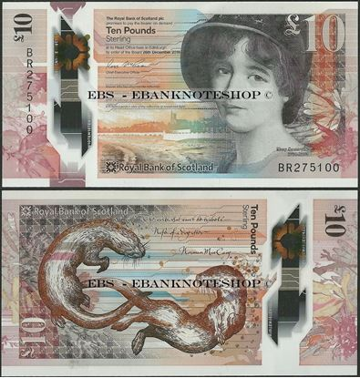 Picture of Scotland,P371,10 Pounds,2017,RBS,Polymer