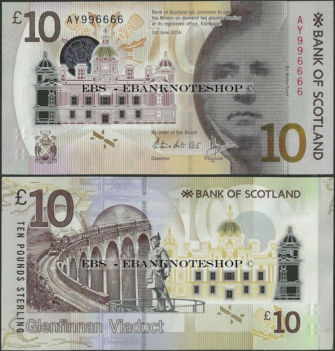 Picture of Scotland,P131,10 Pounds,2017,BoS