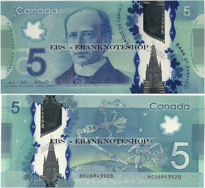 Picture of Canada,P106b,B371c,5 Dollars,Sg 17