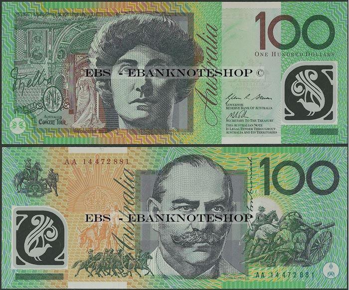 Picture of Australia,P61,B229,100 Dollars,2014