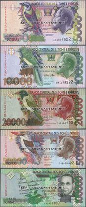 Picture of Sao Tome Principe,5 Note SET,5k - 100k Dobras,2013
