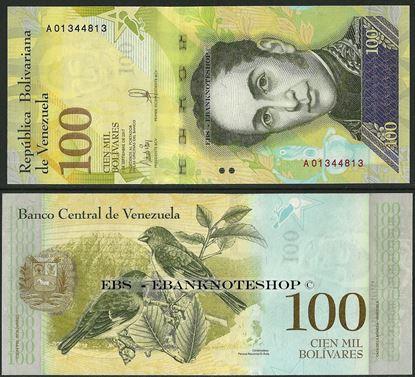 Picture of Venezuela,P100,B370a,100 000 Bolivares,2017,A