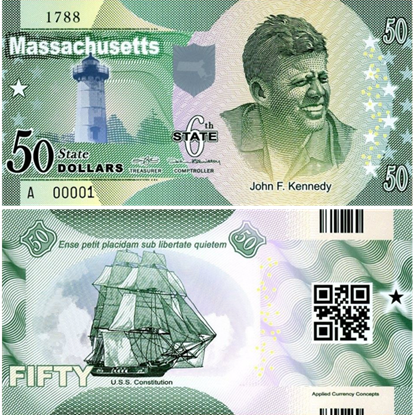 Picture of US State Dollar,6th State ,Massachusetts,50 State Dollars